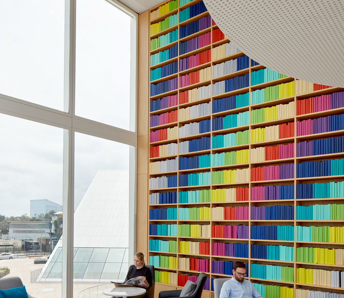 Green Square Library, Stewart Hollenstein. Photography; Tom Roe