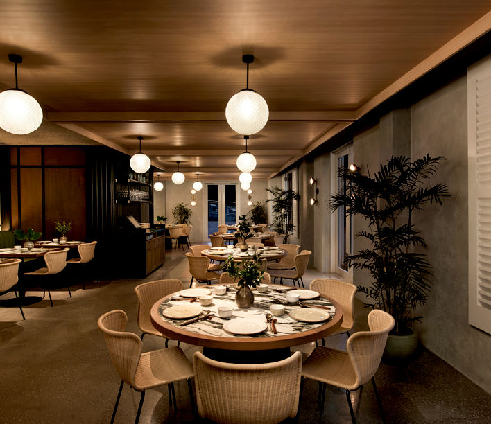 Po Restaurant, Warehouse Hotel, Singapore.
