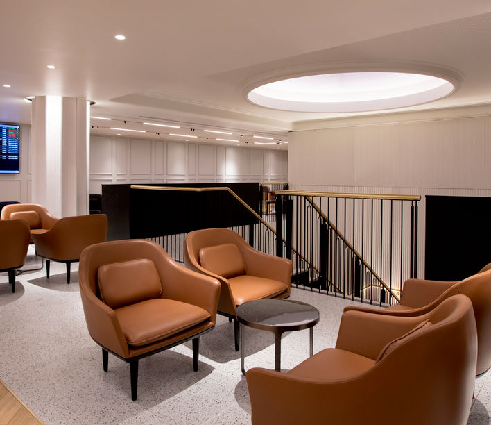 Qantas Lounge, Heathrow Airport. Credit: Qantas