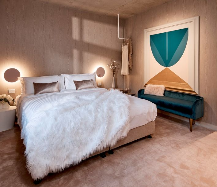 The Collectionist Hotel, Sydney. Room designed by Wills Sheargold. Photo courtesy of the Collectionist Hotel.