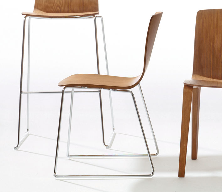 Aava Sled Base Chair by Arper