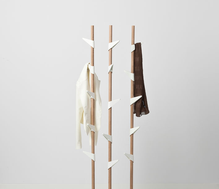 Bamboo Coat Stand 3
