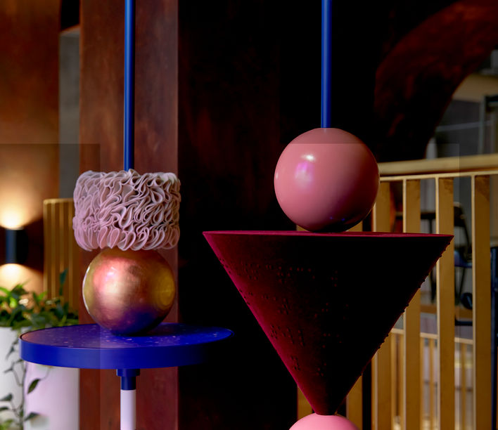 Detail of Elementary Abacus by Marta Figueiredo, finalist in the AFDA 2020 presented by Stylecraft and the NGV
