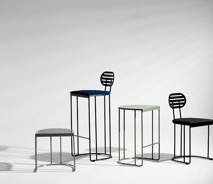 ACP Atelier | Sedis Outdoor Stools | Exclusively available from Stylecraft