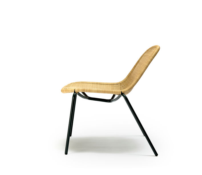 Feelgood Designs | Edwin Lounge Chair in Wheat Polyethylene | Available from Stylecraft