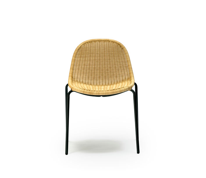 Feelgood Designs | Edwin Stackable Chair in Wheat Polyethylene | Available from Stylecraft