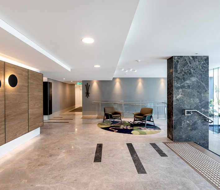 Cutters Landing, Mitchell Lobby designed by Base Architecture   Photography by Cam Murchison
