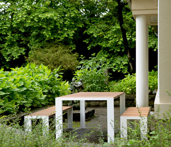 Stua | Deneb Outdoor Bench & Stool | Available exclusively from Stylecraft