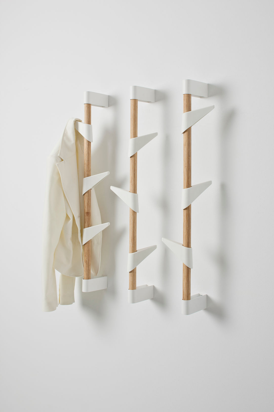 Bamboo Wall Mounted Coat Stand