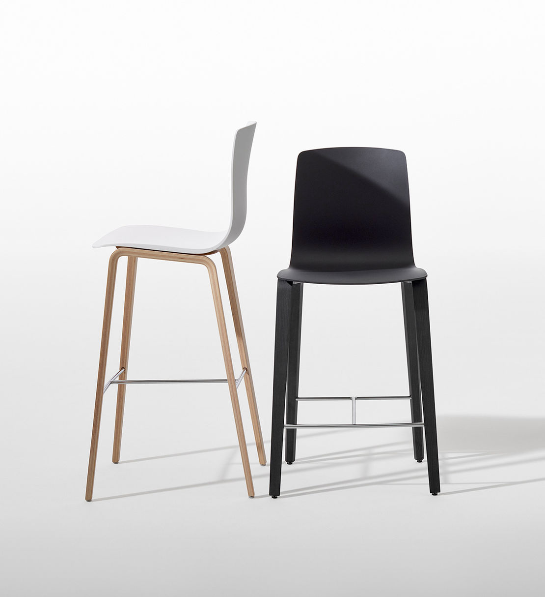 Arper | Aava Timber Leg Barstool | Exclusively available from Stylecraft
