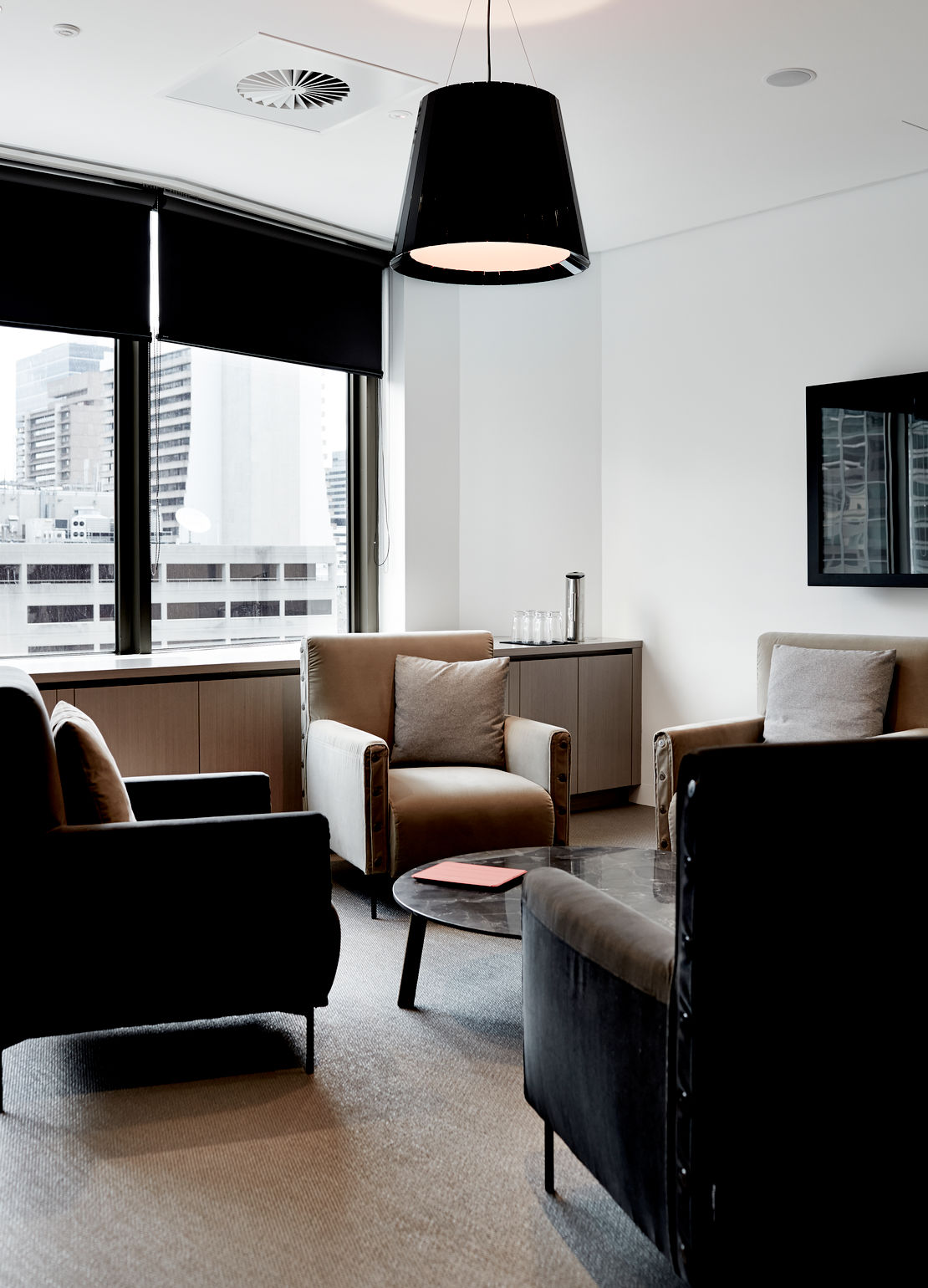 Highlife Armchair and Ruler Table by Tacchini