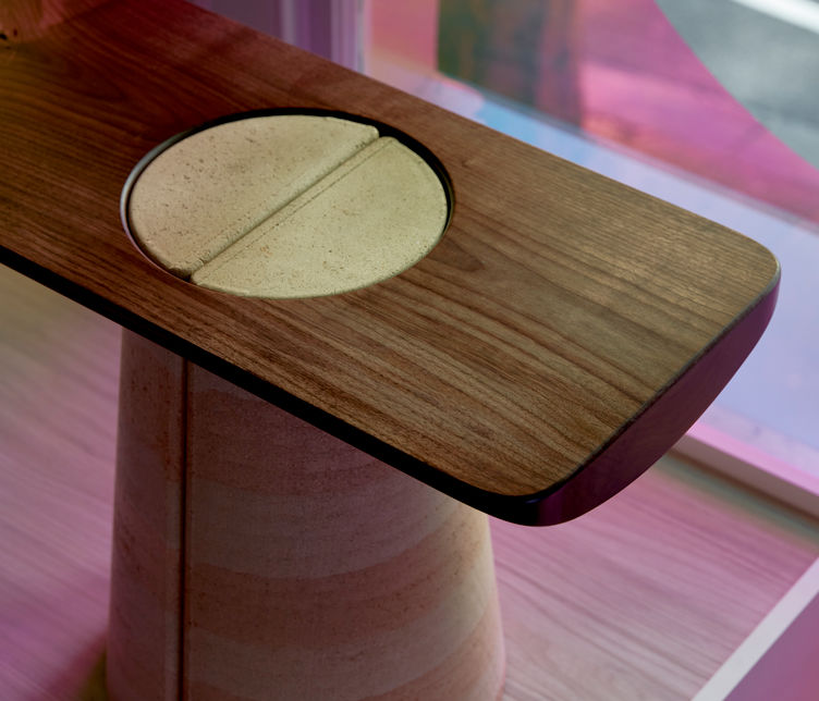 Detail of Anthropic Bench by James Walsh, finalist in the AFDA 2020 presented by Stylecraft and the NGV
