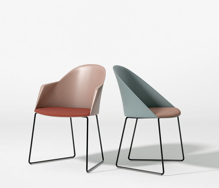 Arper | Cila Sled Chair with Arms | Stylecraft