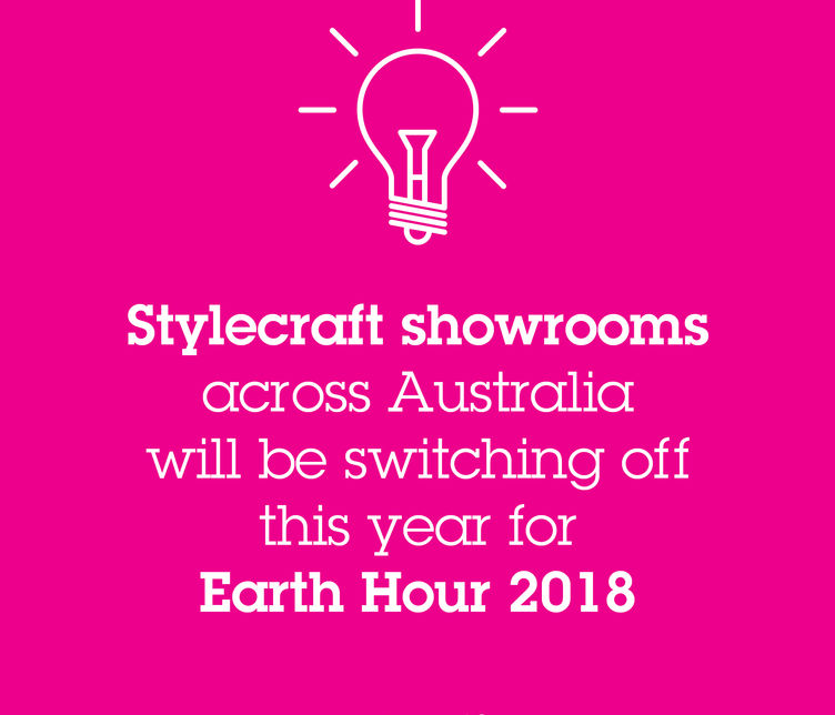 Stylecraft showrooms will participate in Earth Hour 2018