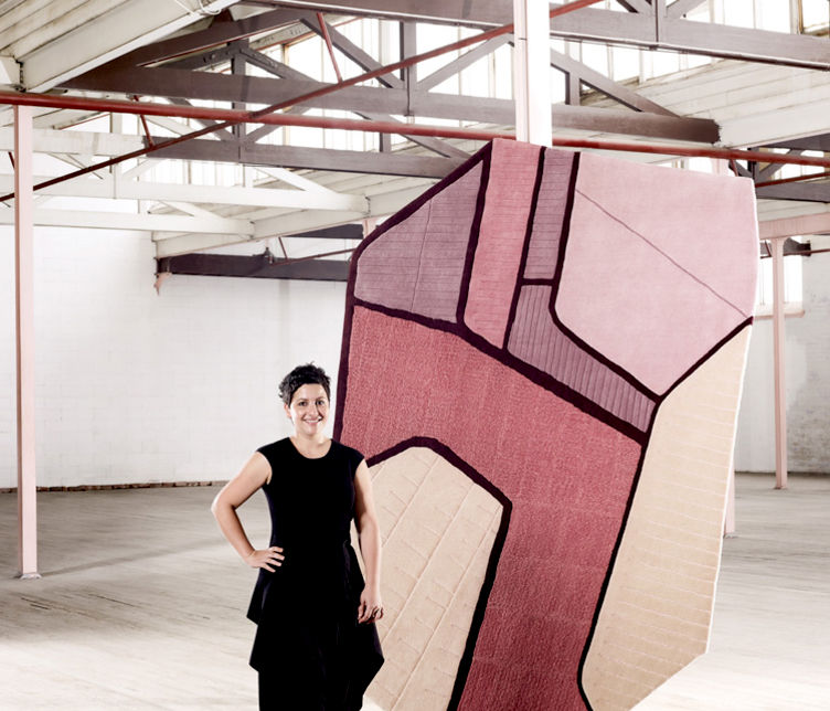 Helen Kontouris of LEN with Terraces Rug